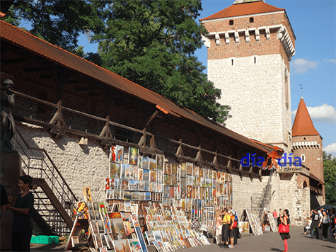 Puestos callejeros en Cracovia