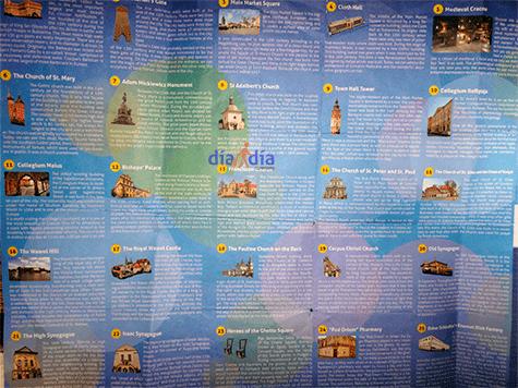 Mapa de atracciones de Lublin