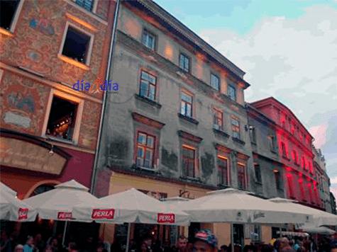 Calle Grodzka en el centro de Lublín