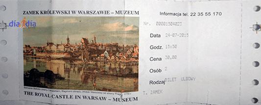 Entrada original al Castillo de Varsovia