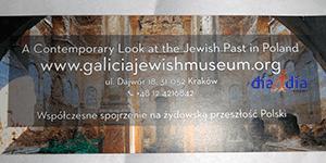 Entrada al museo de los judíos de Galizia en Cracovia