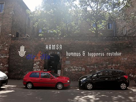 Restaurante Hamsa en el centro de Cracovia